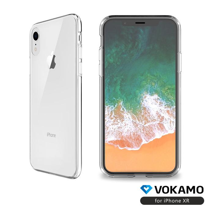 VOKAMO|Sdouble 雙料抗震防刮透明裸機感手機保護殼 iPhone XR (6.1吋)專用 全透明