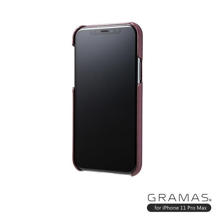 (複製)GRAMAS 東京職人工藝iPhone 11 Pro Max (6.5吋)專用 極致輕量背蓋式皮革手機殼-EURO系列(黑)