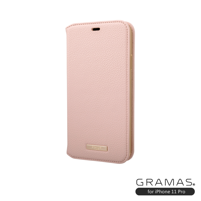 GRAMAS|東京職人工藝iPhone 11 Pro (5.8吋)專用 時尚掀蓋式皮套手機殼-Shrink系列(粉)