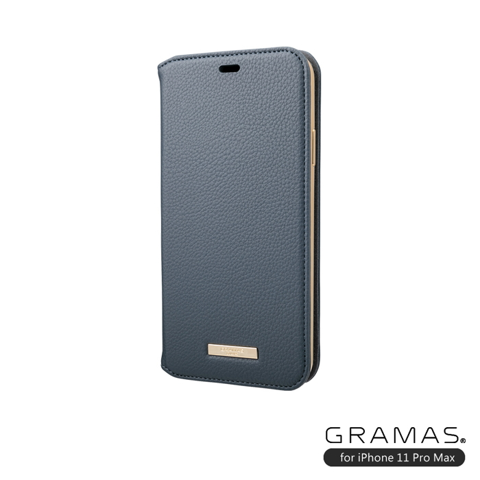 (複製)GRAMAS 東京職人工藝iPhone 11 Pro Max (6.5吋)專用 時尚掀蓋式皮套手機殼-Shrink系列(淺藍)