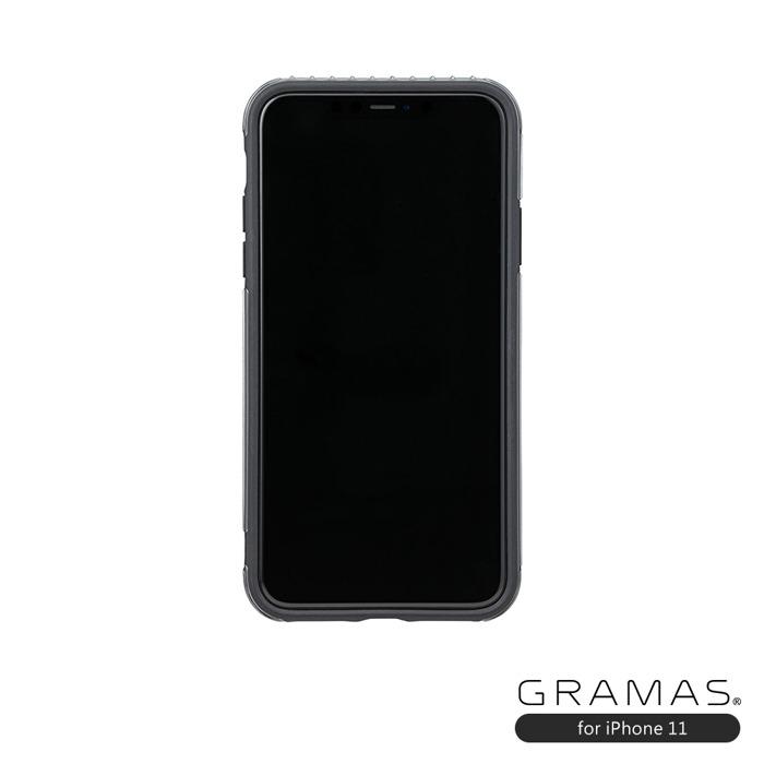 (複製)GRAMAS|東京職人工藝iPhone 11 (6.1吋)專用 雙料保護軍規防摔行李箱手機殼-Rib系列(金)