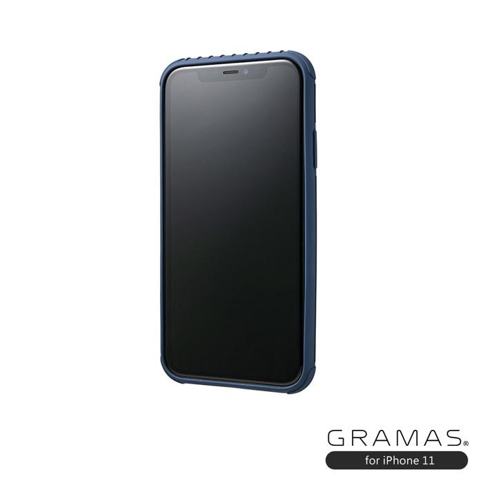 (複製)GRAMAS|東京職人工藝iPhone 11 (6.1吋)專用 耐衝撃羽量級行李箱手機殼-Rib Light系列(黑)