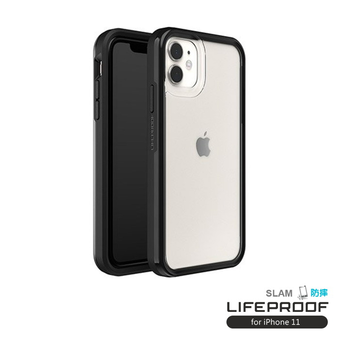 LIFEPROOF iPhone 11 (6.1吋)專用 吸震抗衝擊輕量防摔手機殼-SLAM(透明/黑)