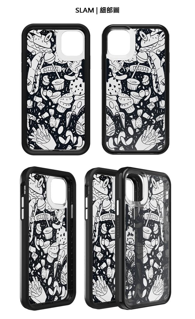 LIFEPROOF iPhone 11 (6.1吋)專用 吸震抗衝擊輕量防摔手機殼-SLAM(黑白彩繪/黑)