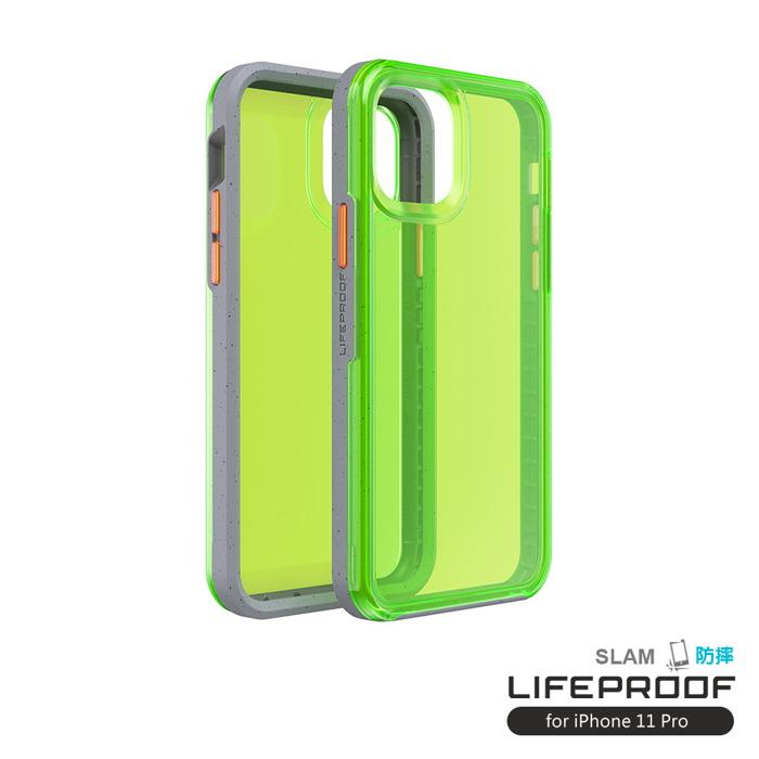 (複製)LIFEPROOF|iPhone 11 Pro (5.8吋)專用 吸震抗衝擊輕量防摔手機殼-SLAM(透紅/藍)