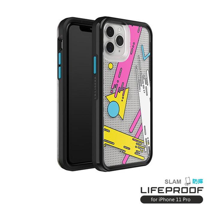 (複製)LIFEPROOF|iPhone 11 Pro (5.8吋)專用 吸震抗衝擊輕量防摔手機殼-SLAM(黑白彩繪/黑)