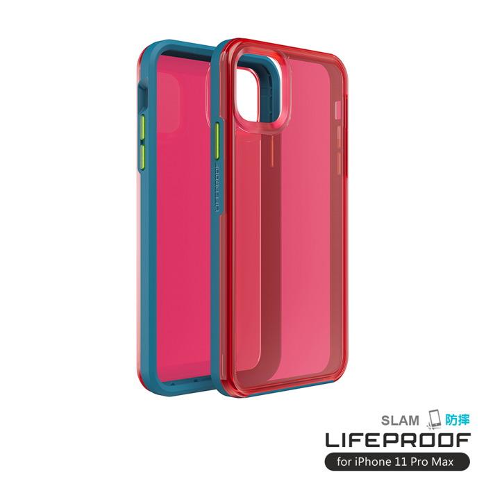 (複製)LIFEPROOF|iPhone 11 Pro Max (6.5吋)專用 吸震抗衝擊輕量防摔手機殼-SLAM(透明/黑)