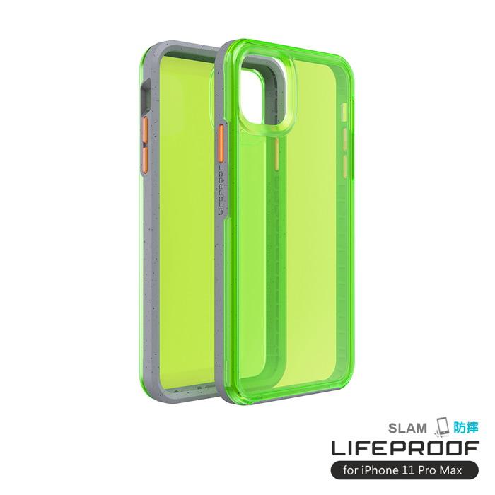 (複製)LIFEPROOF|iPhone 11 Pro Max (6.5吋)專用 吸震抗衝擊輕量防摔手機殼-SLAM(透紅/藍)