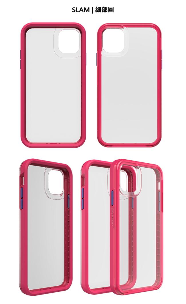 (複製)LIFEPROOF|iPhone 11 Pro Max (6.5吋)專用 吸震抗衝擊輕量防摔手機殼-SLAM(透黃/灰)