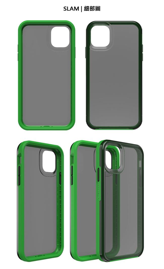 (複製)LIFEPROOF|iPhone 11 Pro Max (6.5吋)專用 吸震抗衝擊輕量防摔手機殼-SLAM(透明/粉)