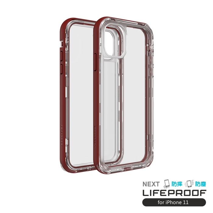 (複製)LIFEPROOF|iPhone 11 (6.1吋)專用 2米軍規防摔防雪防塵三防保護殼-NEXT(透明/粉)