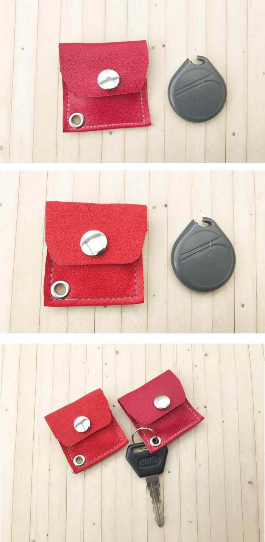 曼波魚SUN-FISH|【皮革溫度】隨身磁扣銅板收納包