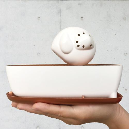 曼波魚SUN-FISH|三合一植栽收納盒(玫瑰金)