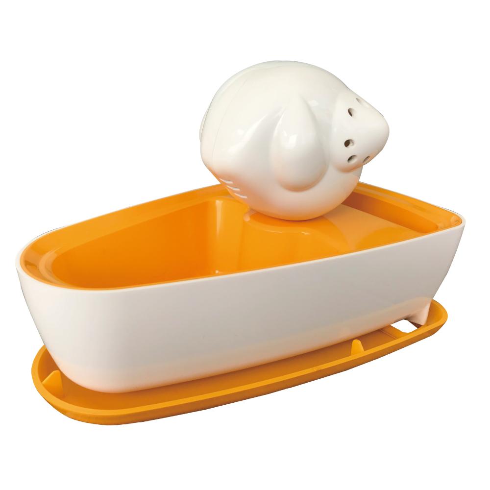 曼波魚SUN-FISH|三合一植栽收納盒(鉻黃色)