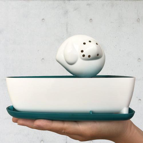 曼波魚SUN-FISH|三合一植栽收納盒(青竹色)