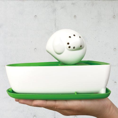 曼波魚SUN-FISH|三合一植栽收納盒(翠綠色)