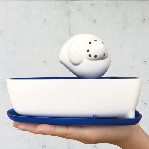 曼波魚SUN-FISH|三合一植栽收納盒(海軍藍)