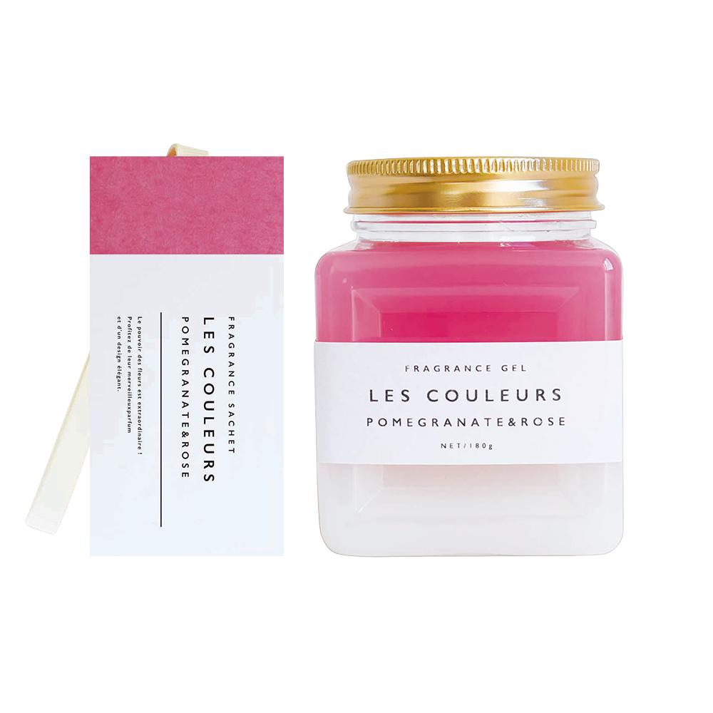 LES COULEURS|植萃香氛袋+植萃香氛膏〈 石榴&玫瑰組 〉