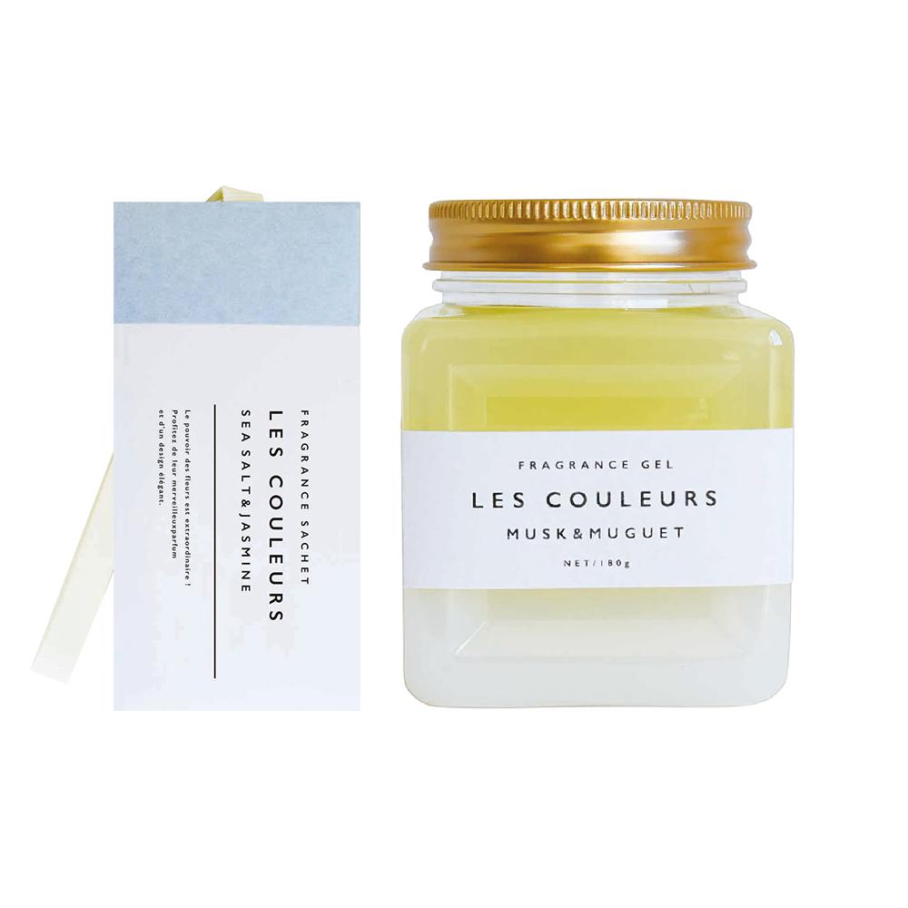 LES COULEURS|植萃香氛袋+植萃香氛膏〈海鹽茉莉&麝香鈴蘭組〉