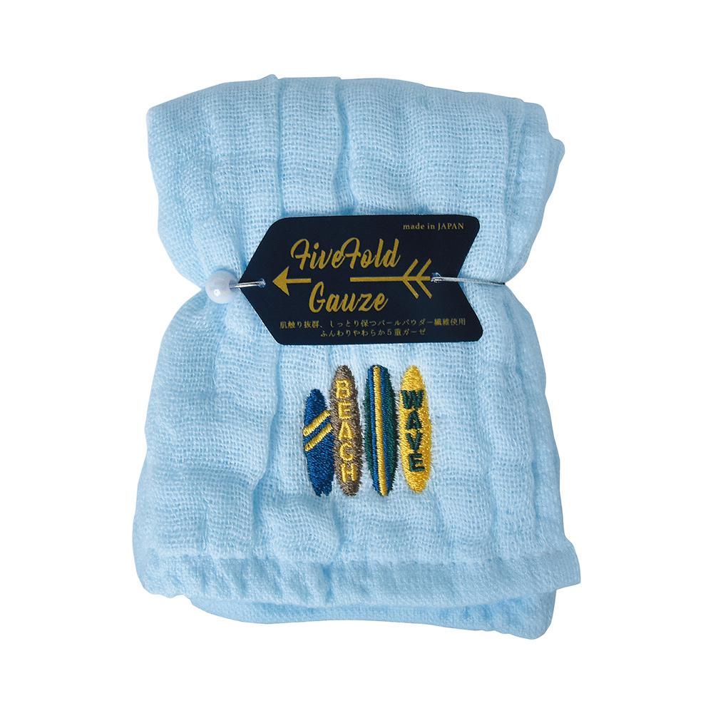 Nicott|日本五重珍珠紗方巾〈水漾海灘兩入組〉