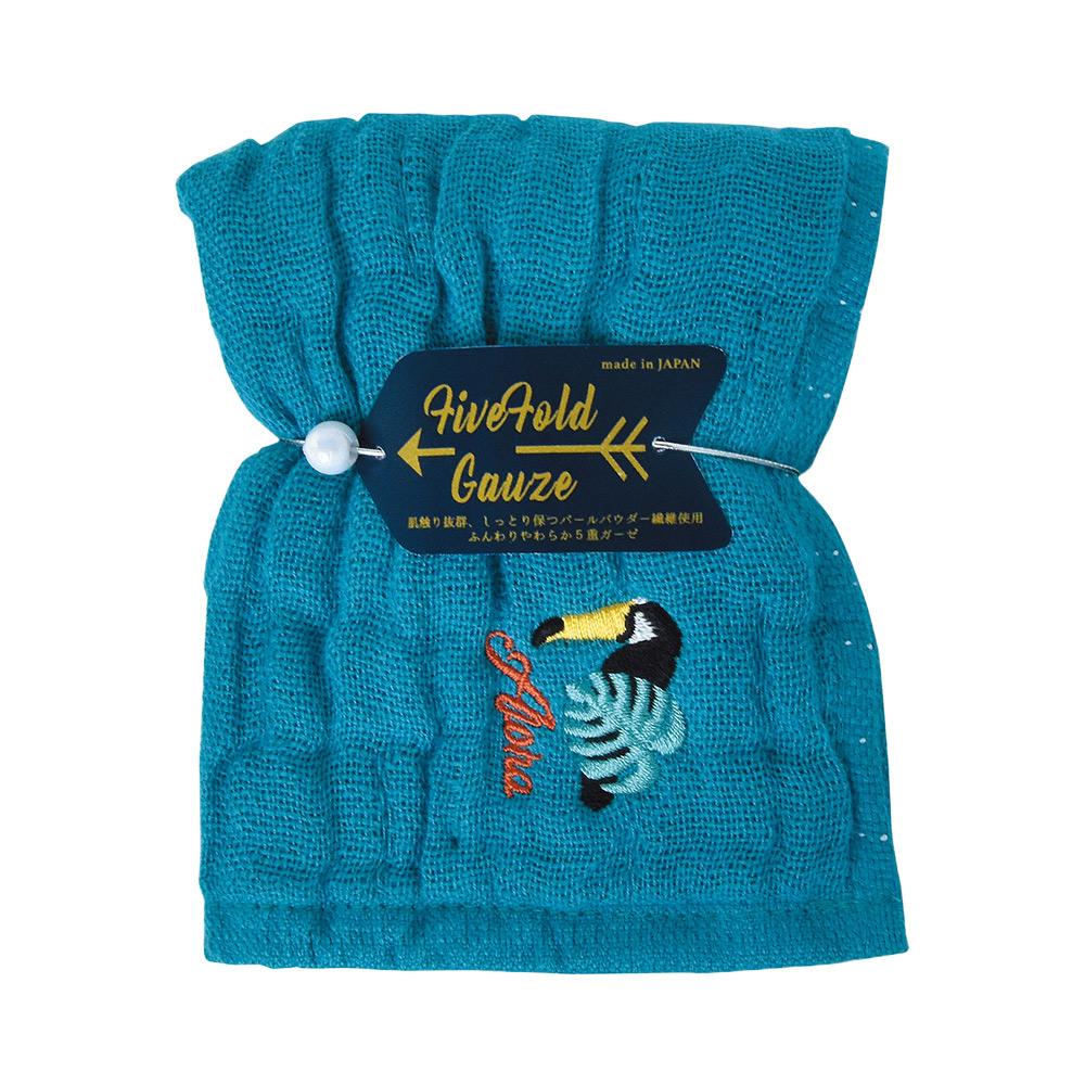 Nicott|日本五重珍珠紗方巾〈土耳其藍巨嘴鳥兩入組〉