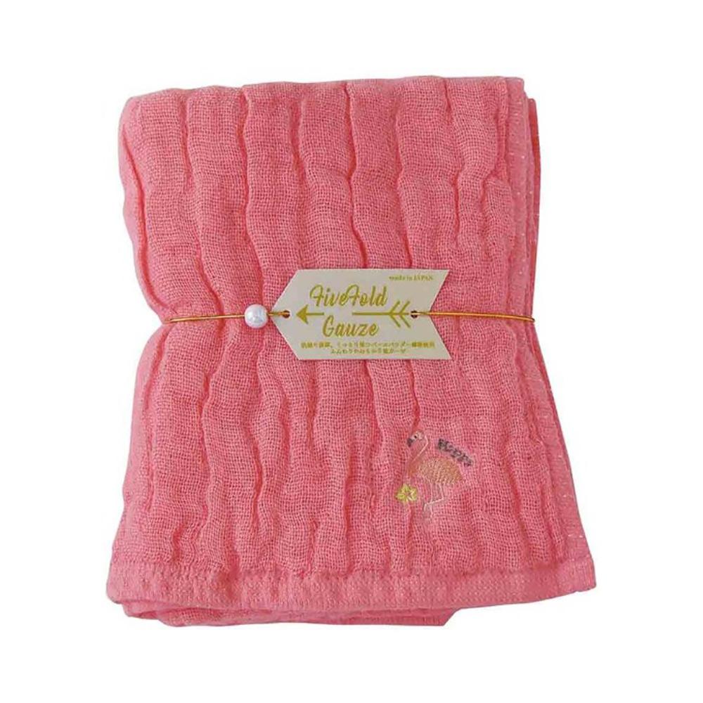 Nicott|日本五重珍珠紗毛巾〈桃粉紅鶴〉