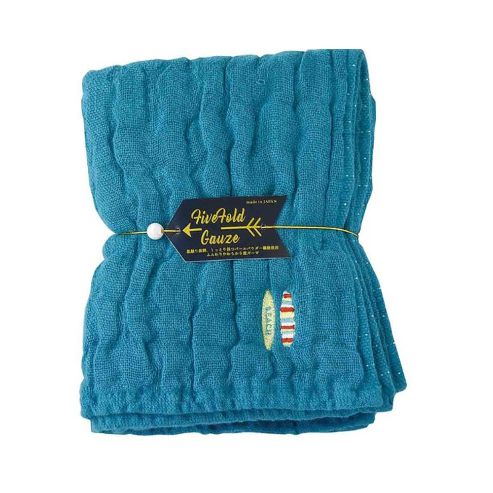 Nicott|日本五重珍珠紗毛巾〈土耳其藍海灘〉
