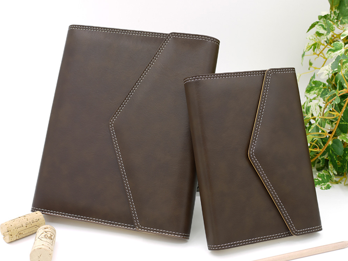 (複製)LEATAI 磊泰 復古信封包 25K活頁筆記本 + 介紙1.0內頁(鋼筆專用紙)) - 深咖啡色