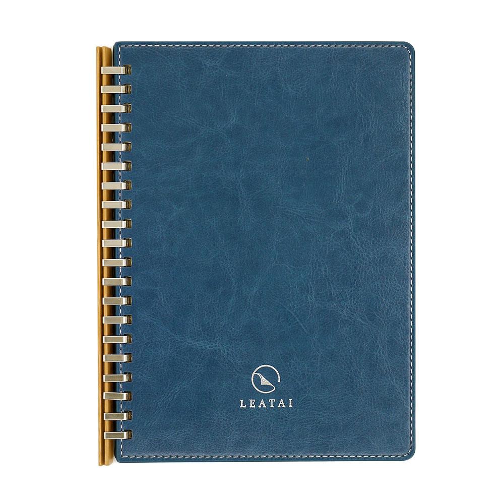 LEATAI 磊泰|歲月靜好 A5孟宗竹條活頁本(介紙1.0-鋼筆適用紙) - 藍色