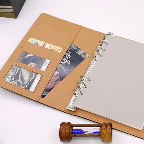 LEATAI 磊泰 復古信封包 48K活頁筆記本 + 介紙1.0內頁(鋼筆專用紙)) - 深咖啡色