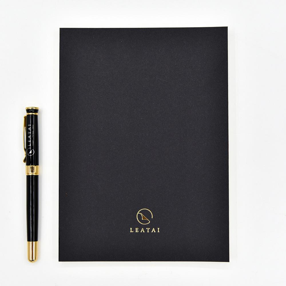LEATAI 磊泰|經典方格筆記本 - 介紙1.0(鋼筆適用紙)-黑色-2本入