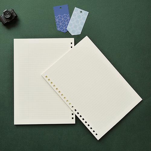 LEATAI 磊泰|戀戀風塵 A5大理石紋滑動夾活頁本 藍色1本+ 方格內頁補充包1本