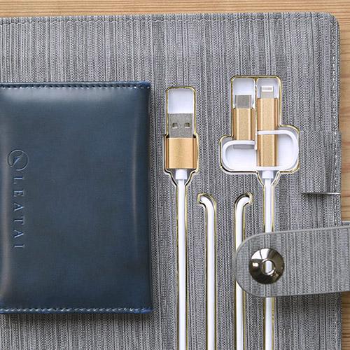 LEATAI 磊泰|獨家專利 / 滿滿的正能量 - A5行動電源活頁本-灰色