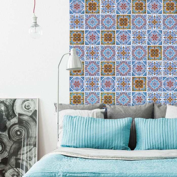 (複製)KNOWS&GOODS|地中海花磚貼紙 塞納河畔款