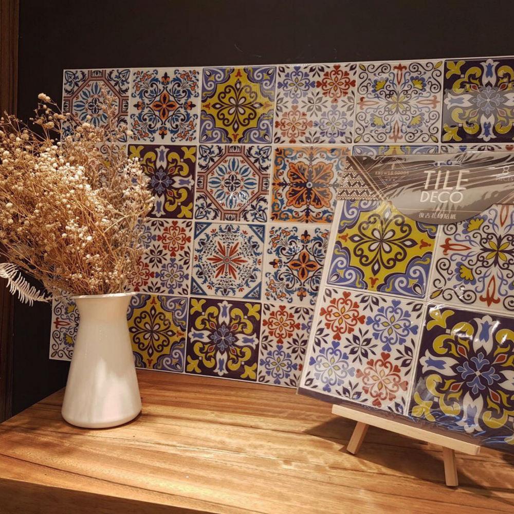 KNOWS&GOODS 地中海花磚貼紙 塞納河畔款