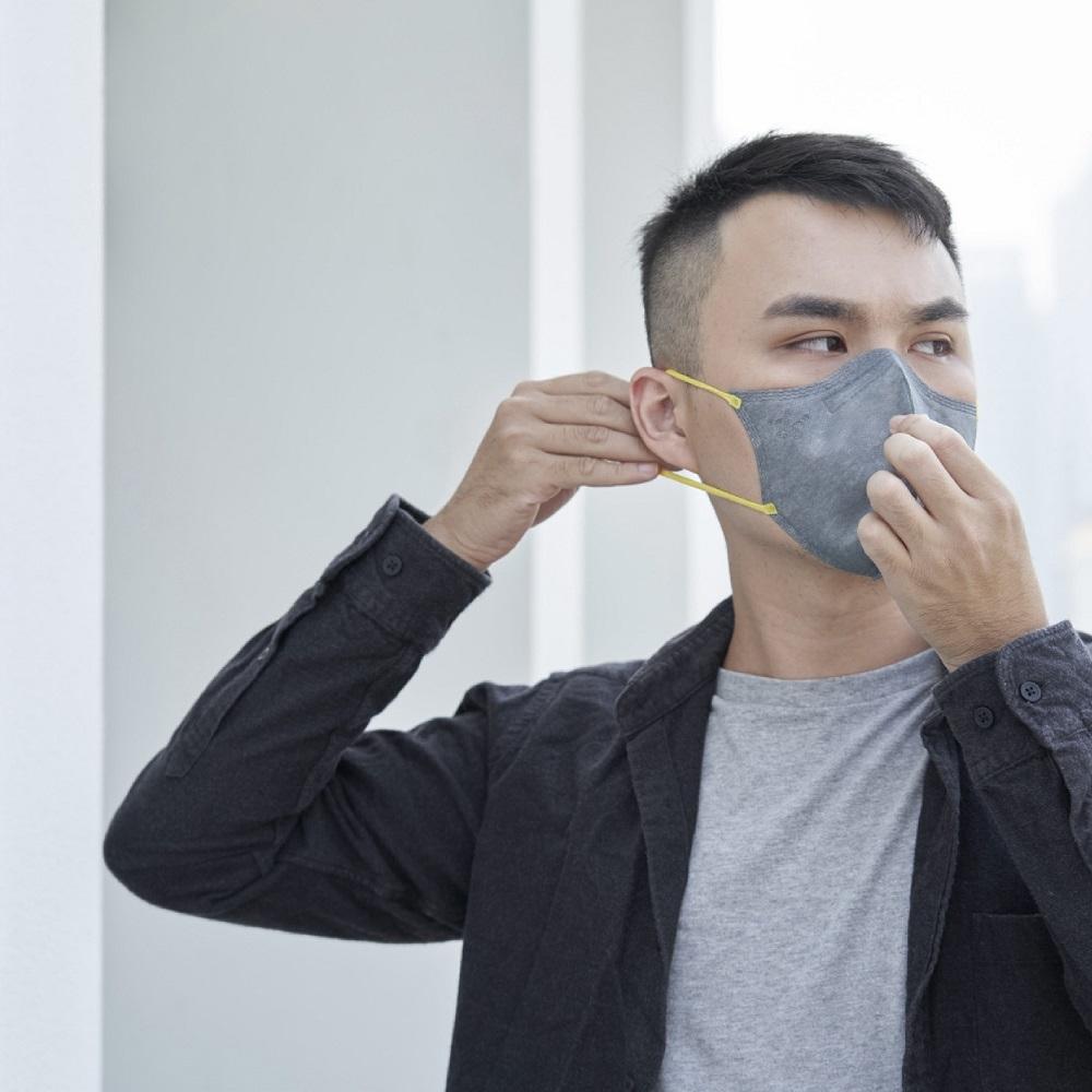 :dc|克微粒 防霾PM2.5口罩 立體成人薄膜口罩1盒(6片/盒) - M / L