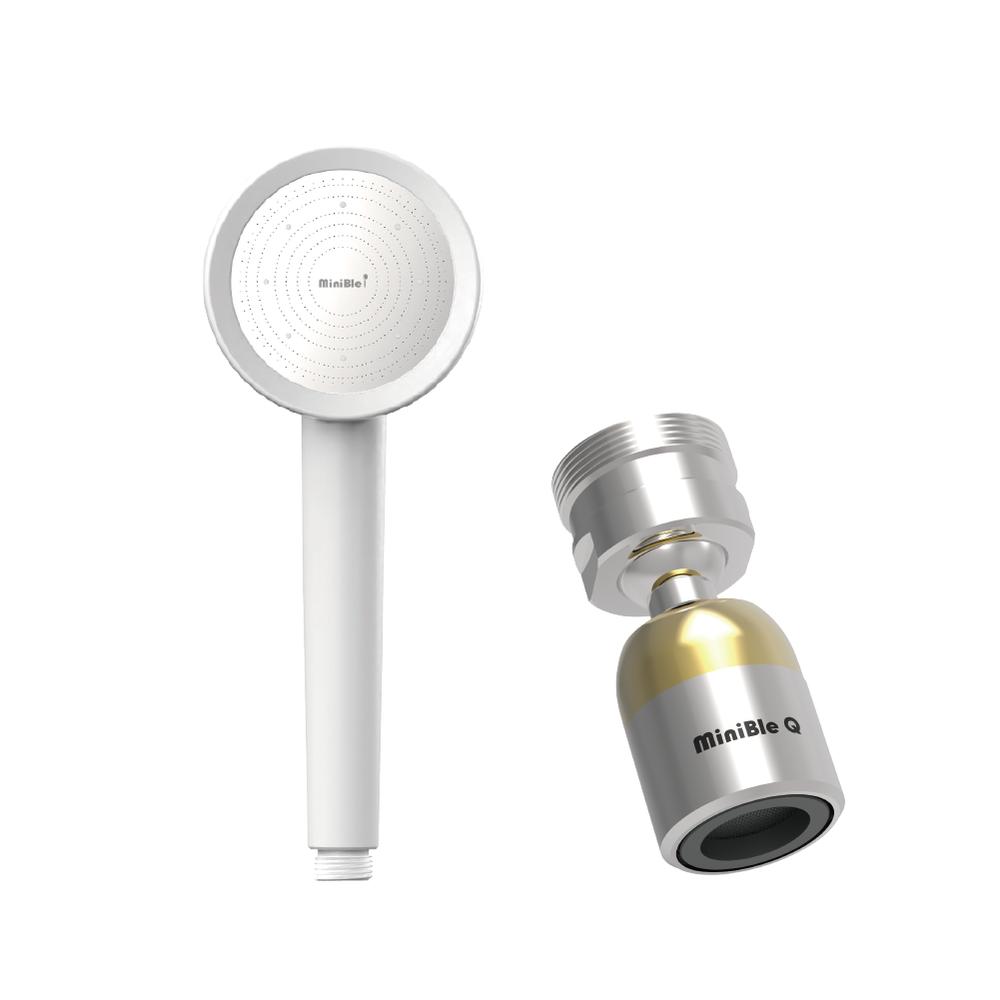 HerherS|MiniBle i除氯過濾微氣泡蓮蓬頭+MiniBle Q轉向版