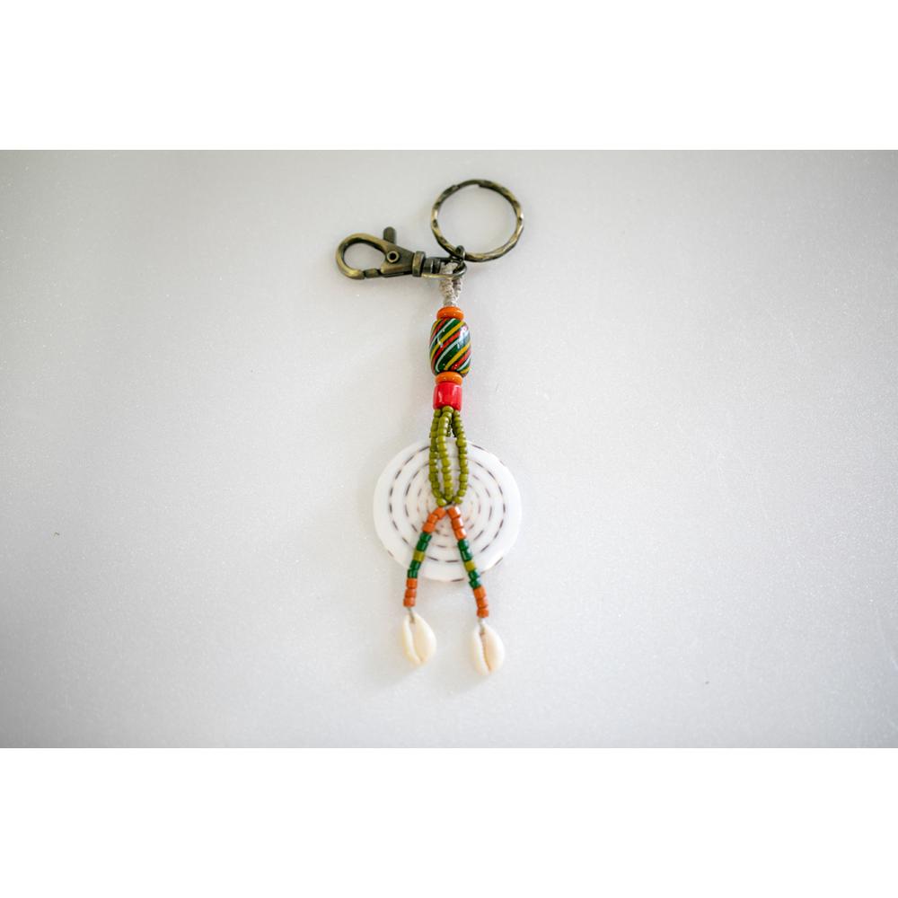 卡塔文化工作室│琉璃貝殼鑰匙圈