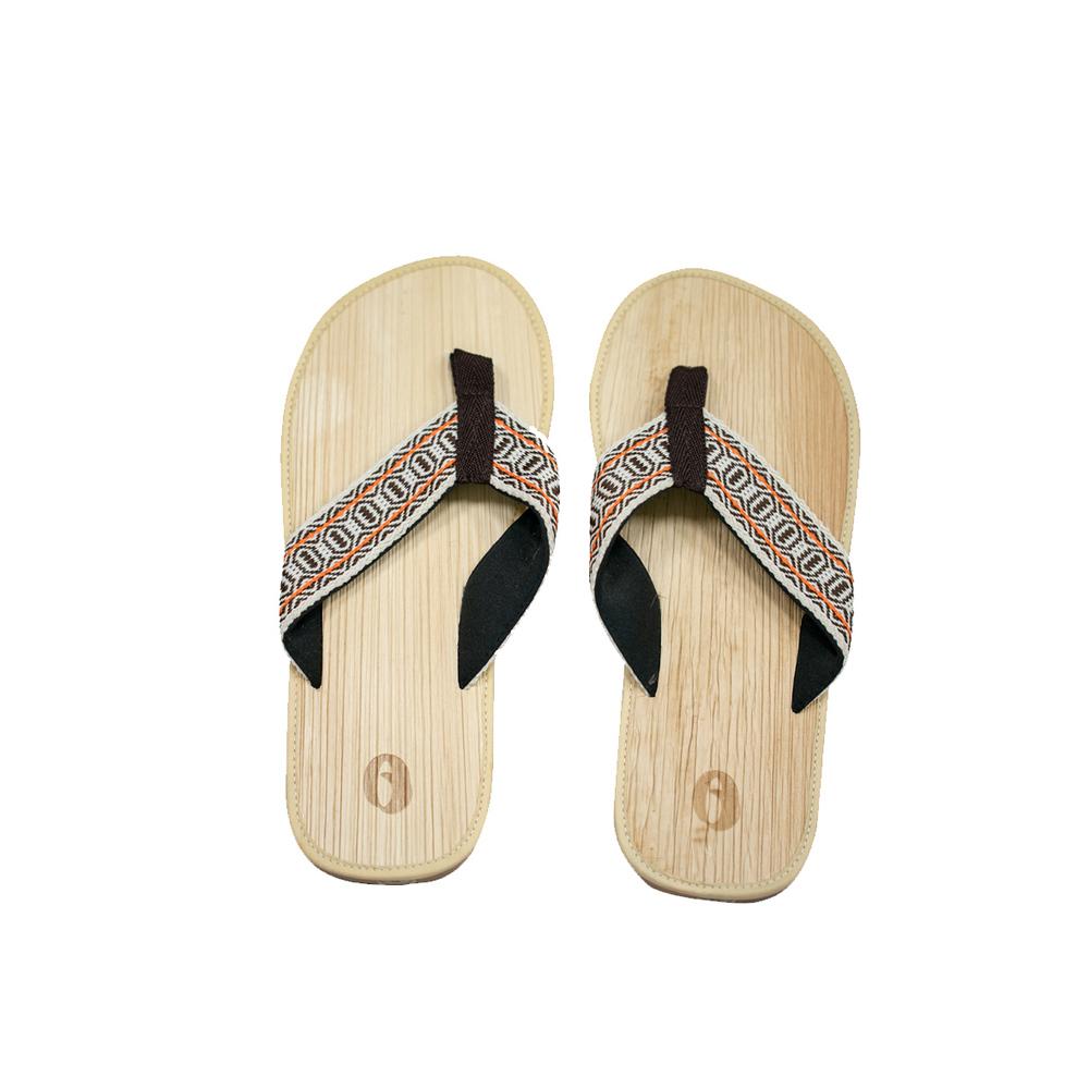 米麻岸工作室│大地織帶檳榔鞘拖鞋男版#8-#11