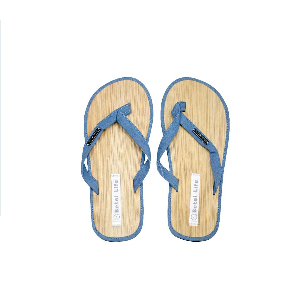 米麻岸工作室│極簡素色檳榔鞘拖鞋(藍)男女同版#5-#11