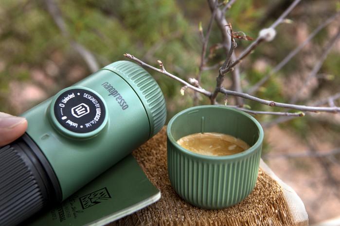 WACACO|NANOPRESSO 隨身咖啡機 森林綠 + 專用硬殼保護套