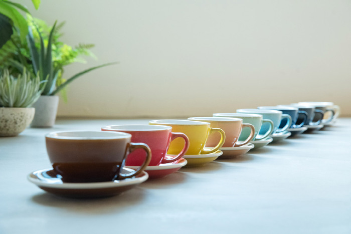 LOVERAMICS 愛陶樂 | 蛋形系列 300ml 拿鐵杯盤組 (職人色系) Egg Cafe Latte Cup & Saucer (Potters Colours) (九色)