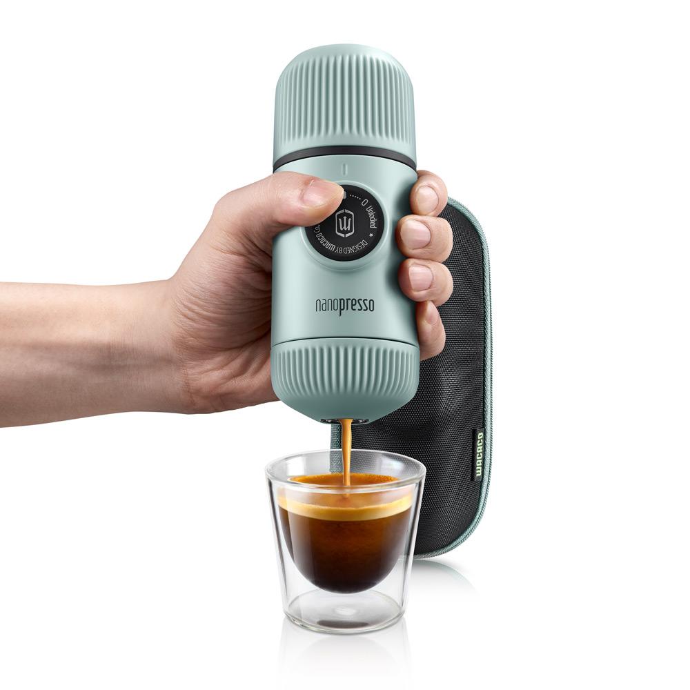 WACACO|NANOPRESSO 隨身咖啡機 - 極地藍(含硬殼保護套)