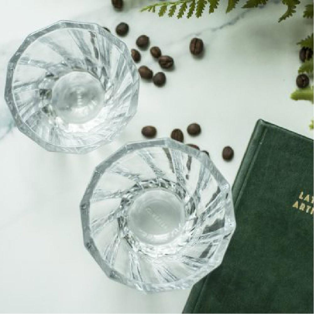 LOVERAMICS 愛陶樂|現代玻璃系列 120ml 光折哥達多玻璃杯 (透明)