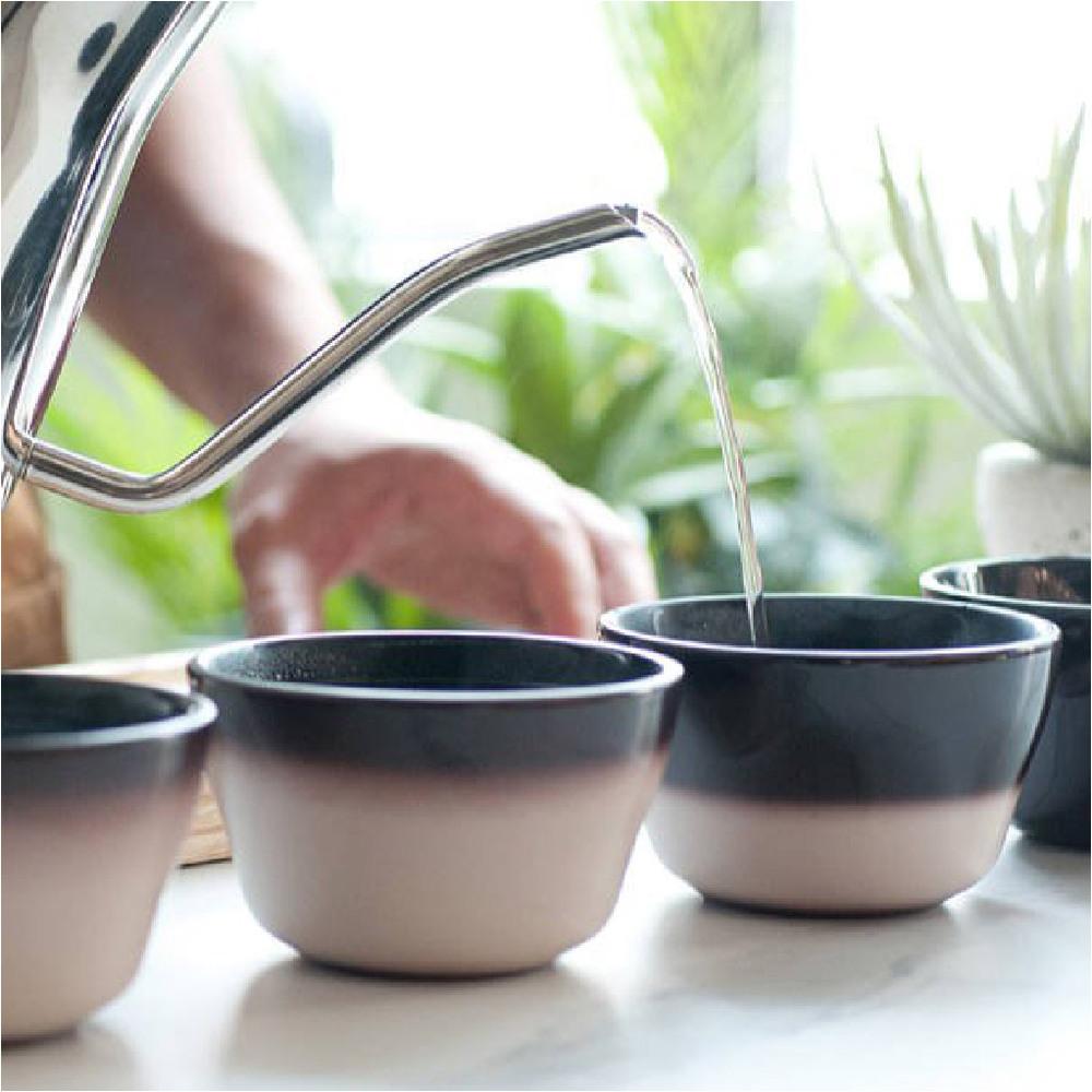 LOVERAMICS 愛陶樂 | 烘焙系列 200ml 現代款變色杯測碗 (達70度時由黑色變白色)