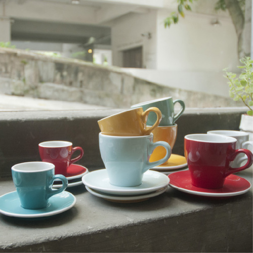 LOVERAMICS 愛陶樂 | 鬱金香系列 280ml 拿鐵杯盤組 Tulip Cafe Latte Cup & Saucer (五色)