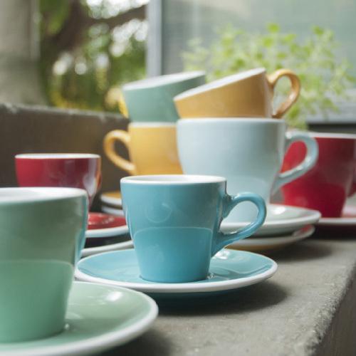 LOVERAMICS 愛陶樂 | 鬱金香系列 180ml 卡布奇諾杯盤組 Tulip Cappuccino Cup & Saucer (五色)