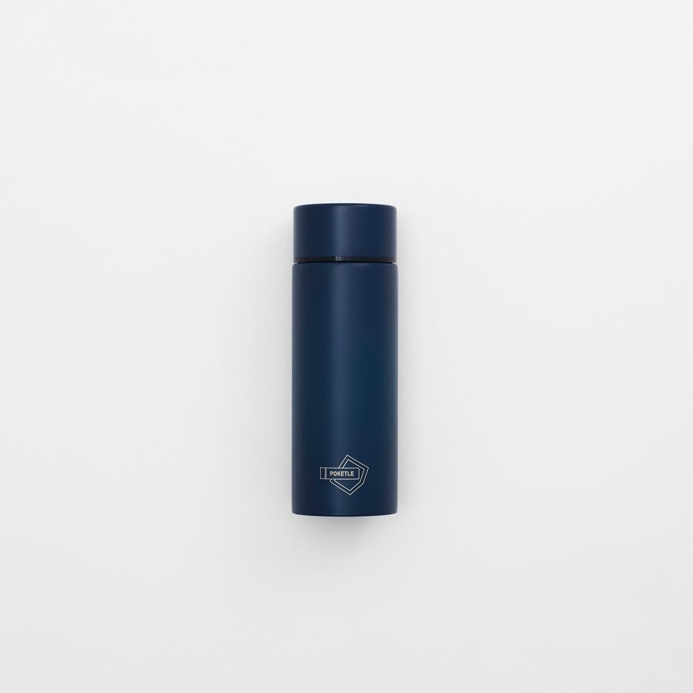 [公司貨]POKETLE   極致輕便保溫瓶S (海軍藍)