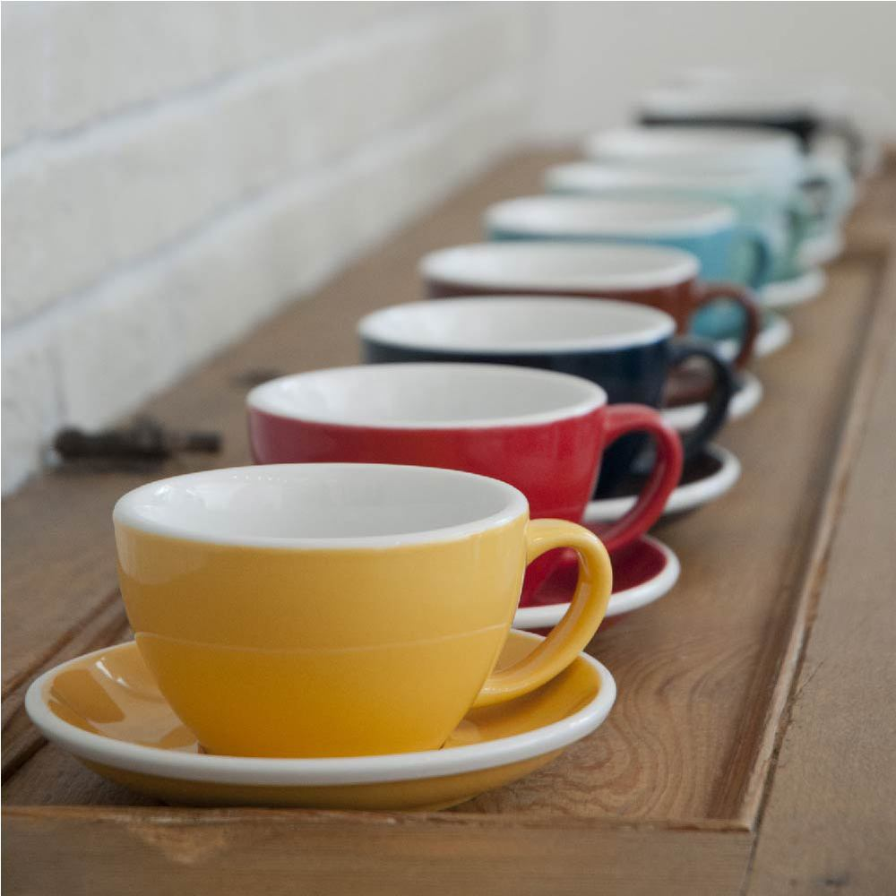 LOVERAMICS 愛陶樂 | 蛋形系列 300ml 拿鐵杯盤組 Egg Cafe Latte Cup & Saucer (五色)