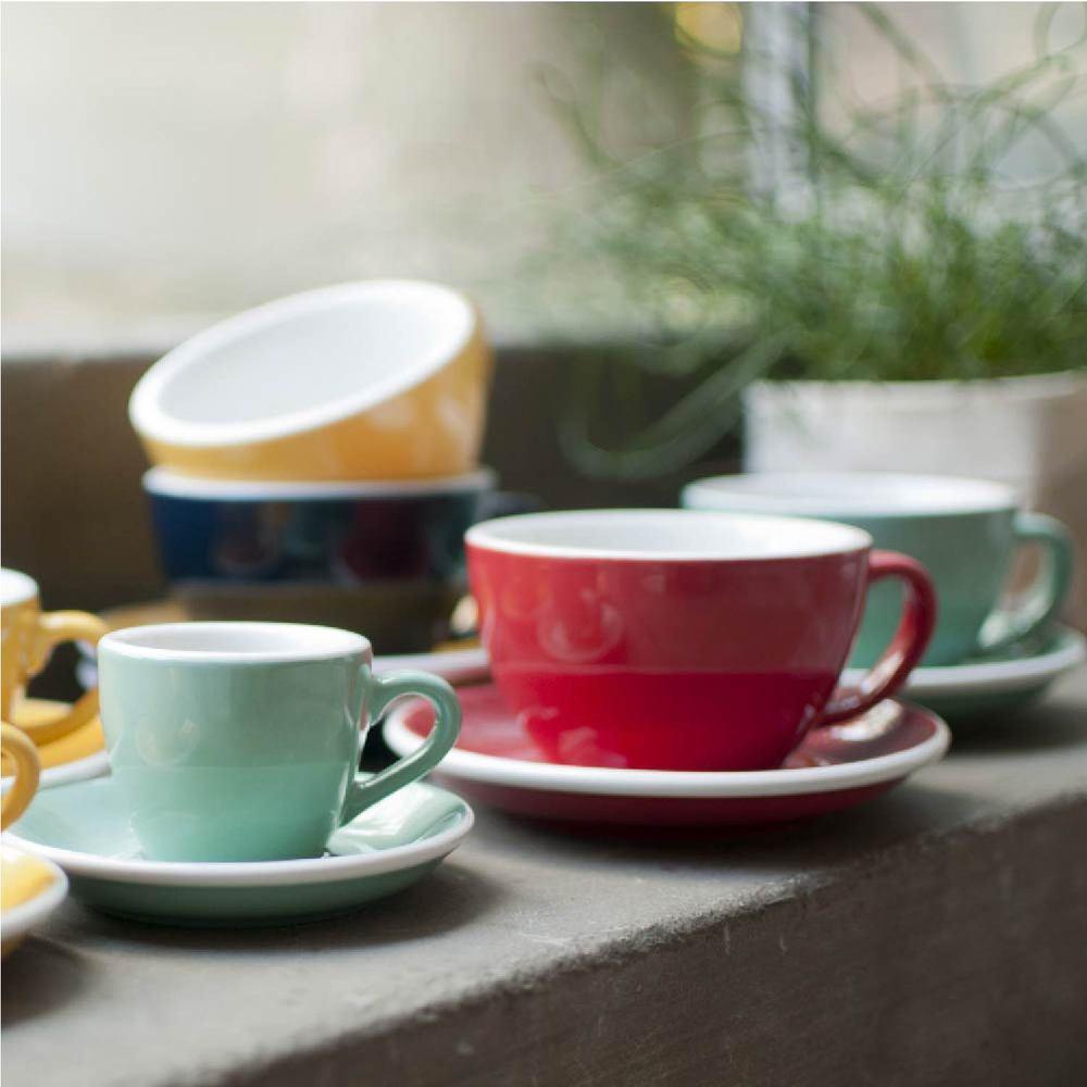 LOVERAMICS 愛陶樂   蛋形系列 150ml 白咖啡杯盤組 Egg Flat White Cup & Saucer (五色)